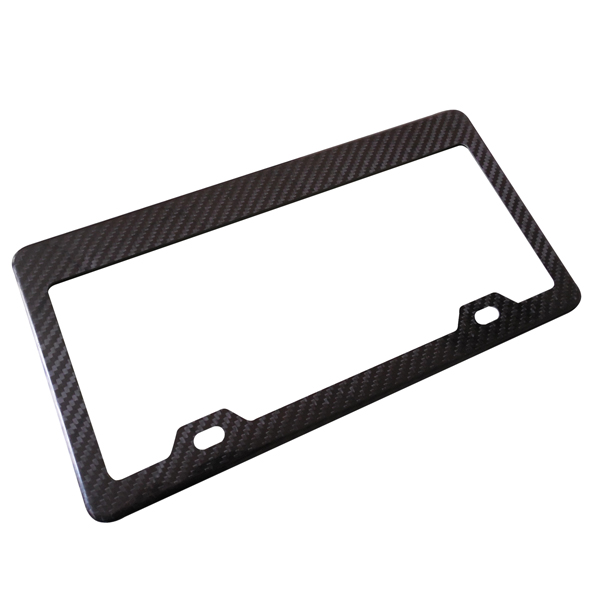 2018 China New Design Wholesale Carbon License Plate Frame -