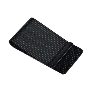 carbon fiber money clip and card holder smooth surface