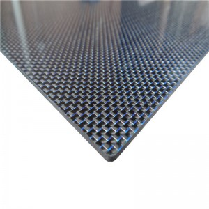 carbon fiber plate with color silk
