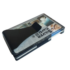 Carbon money clip wallet aluminum credit card