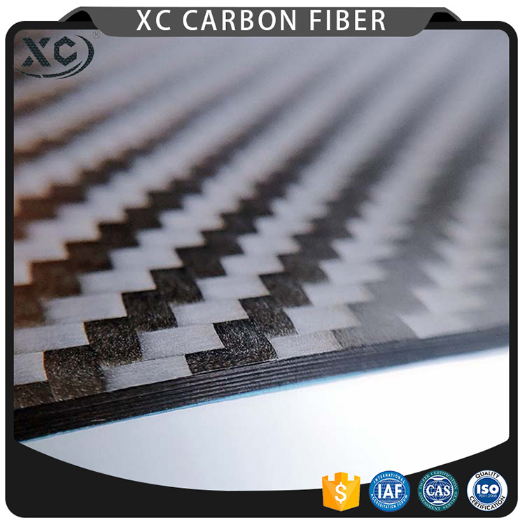 High quality 3k 100% twill plain woven small/ large size carbon fiber board Featured Image