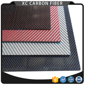 Colorful carbon fiber plates