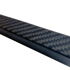 Matte finish carbon fiber rectangular/square tubes