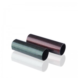 Color carbon fiber tube